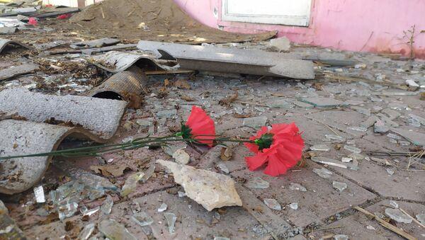 Последствия обстрела в Агдамском районе - Sputnik Азербайджан