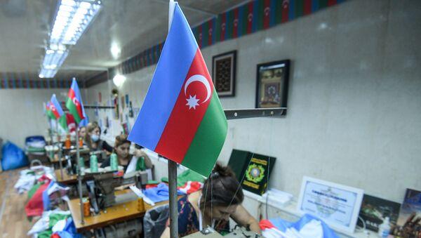 Предприятие по производству флага в Баку - Sputnik Азербайджан