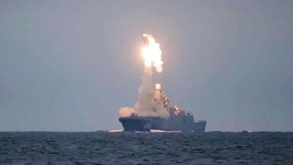 Первый запуск гиперзвуковой ракеты Циркон  - Sputnik Азербайджан