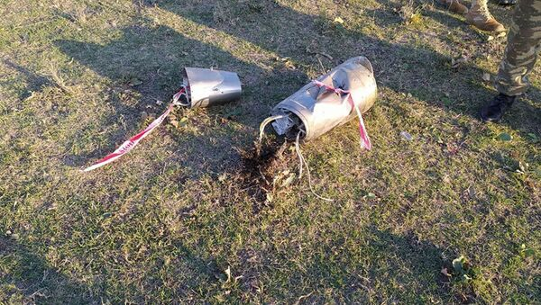 Ermənistan ərazisindən Mingəçevir istiqamətində atılan ballistik hədəfin qalıqları - Sputnik Азербайджан