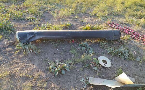 Обломки баллистической цели, выпущенной с территории Армении в направлении Мингячевира - Sputnik Азербайджан