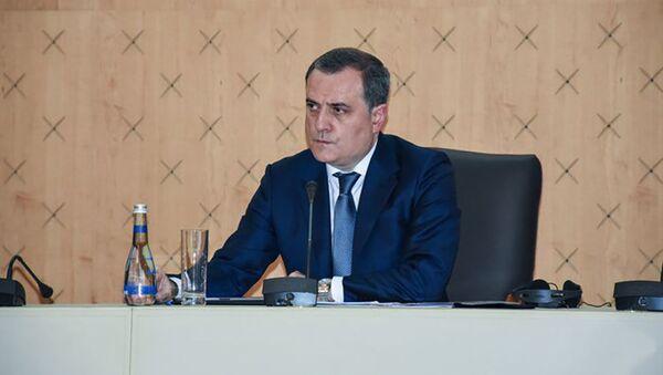 Министр иностранных дел Азербайджана Джейхун Байрамов, фото из архива - Sputnik Azərbaycan