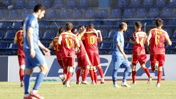 UEFA Millətlər Liqasının qrup mərhələsi çərçivəsində Monteneqro - Azərbaycan oyunu - Sputnik Азербайджан