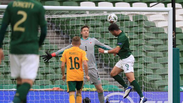 Игровой момент матча Ирландия - Уэльс - Sputnik Азербайджан