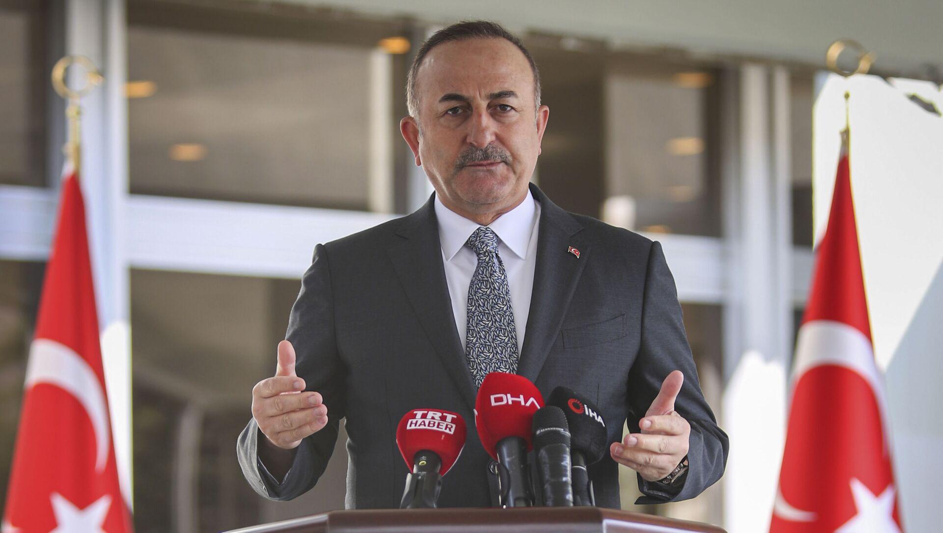 Министр иностранных дел Турции Мевлют Чавушоглу, фото из архива - Sputnik Азербайджан, 1920, 08.04.2021