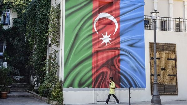 Флаг Азерабйджана в Баку, фото из архива - Sputnik Азербайджан