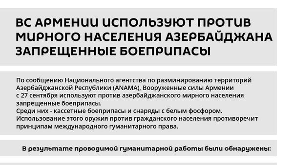 Инфографика: Армянские запрещенные боеприпасы - Sputnik Азербайджан