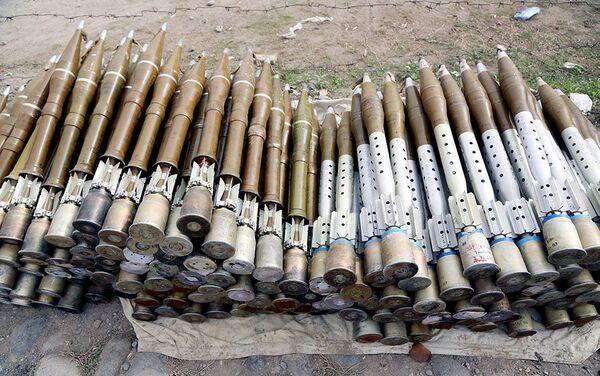 Захваченные боеприпасы армянских ВС - Sputnik Азербайджан