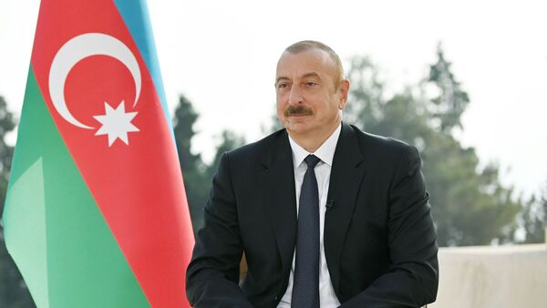İlham Əliyev Rusiyanın TASS informasiya agentliyinə videomüsahibə verib - Sputnik Азербайджан