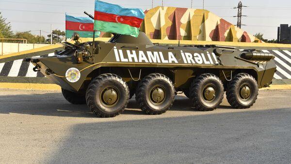 BTR-70M tipli zirehli nəqliyyat vasitəsi - Sputnik Азербайджан