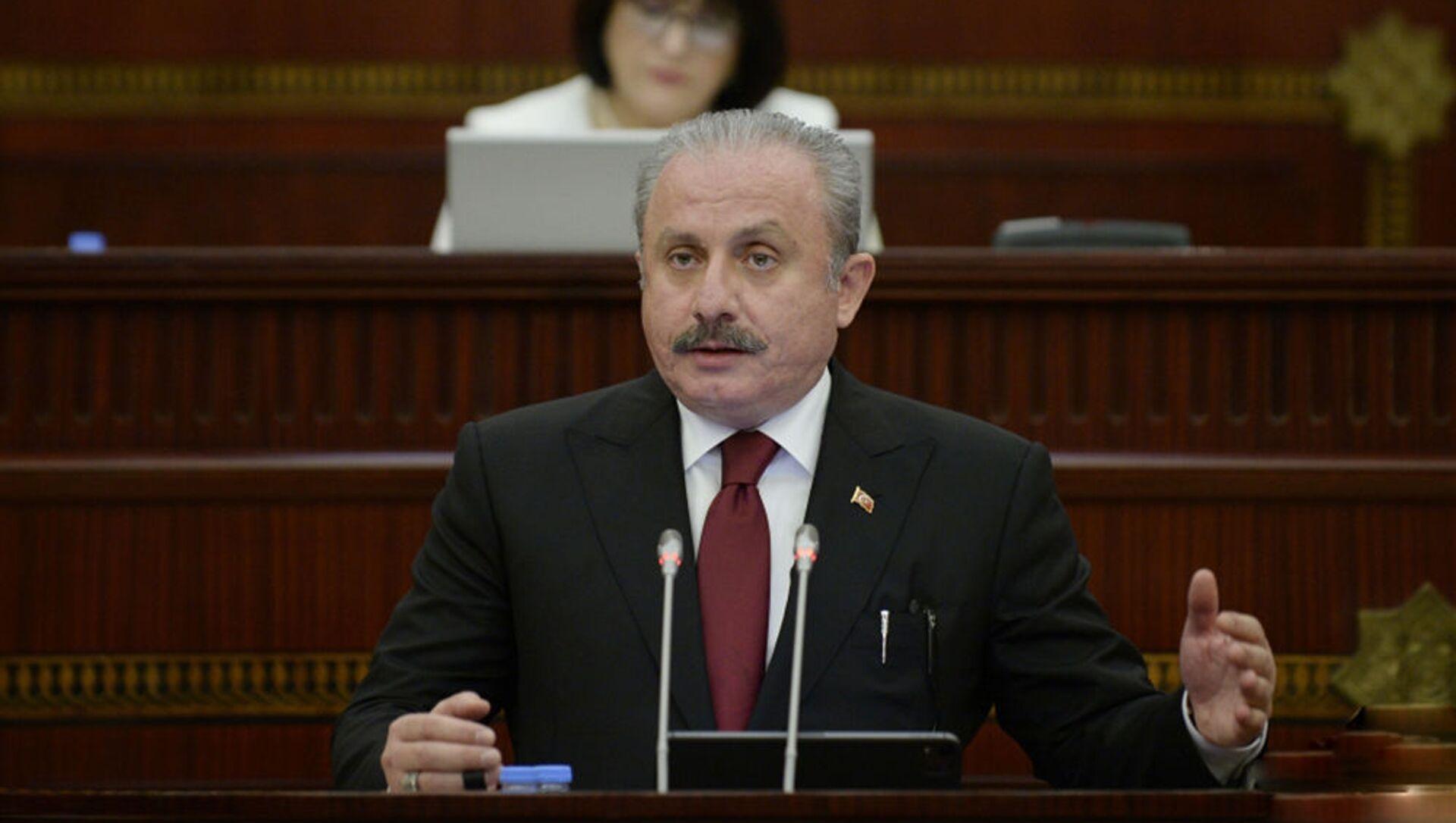 Председатель Великого национального собрания Турции Мустафа Шентоп - Sputnik Азербайджан, 1920, 28.07.2021