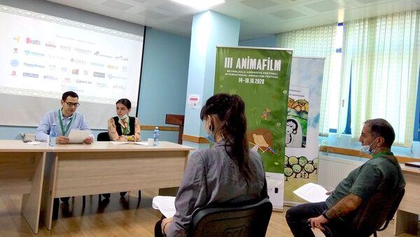 Церемония вручения наград победителям третьего Международного фестиваля ANIMAFILM - Sputnik Азербайджан