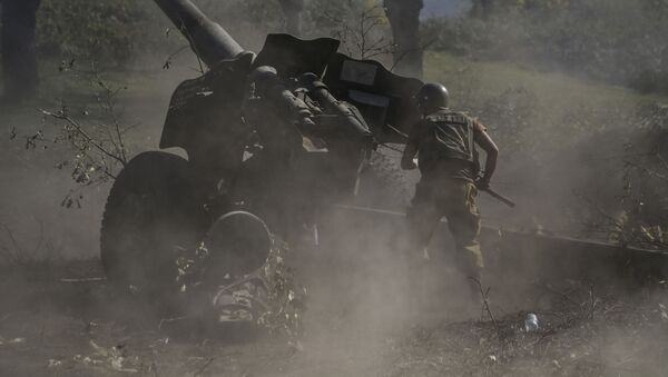 Армянский военнослужащий, фото из архива - Sputnik Азербайджан