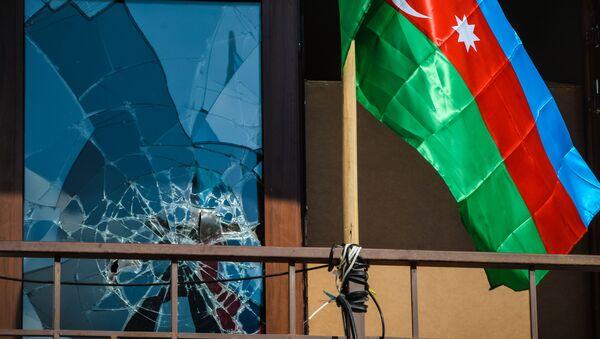 Erməni qüvvələrinin açdıqları atəşdən sonra vəziyyət - Sputnik Азербайджан