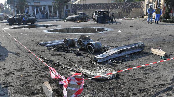Фрагменты ракеты в Барде - Sputnik Азербайджан