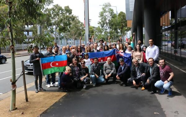 В Сиднее азербайджанцы провели акцию протеста - Sputnik Азербайджан