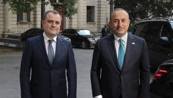 Джейхун Байрамов и Мевлют Чавушоглу, фото из архива - Sputnik Азербайджан
