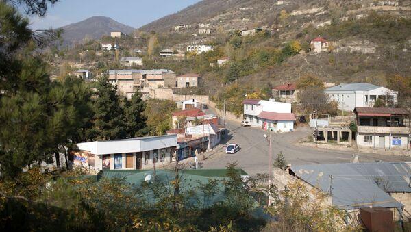 Вид на оккупированный город Лачин, Азербайджан, фото из архива - Sputnik Азербайджан