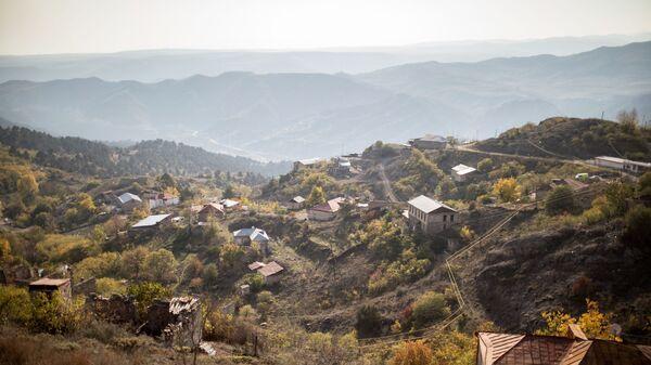 Вид на город Лачин, Азербайджан, фото из архива - Sputnik Azərbaycan