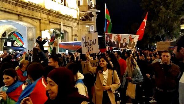 Этот день мы приближали как могли – массовое шествие на Торговой в Баку - Sputnik Азербайджан