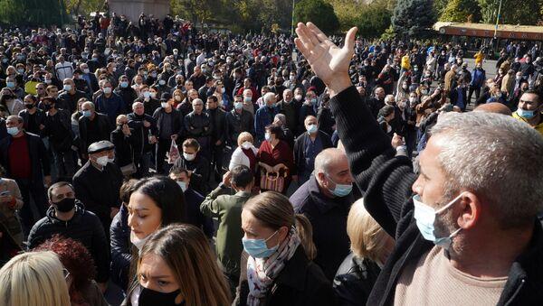 Протесты в Ереване - Sputnik Azərbaycan