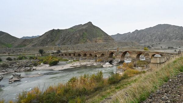 Худаферинский мост, фото из архива - Sputnik Азербайджан
