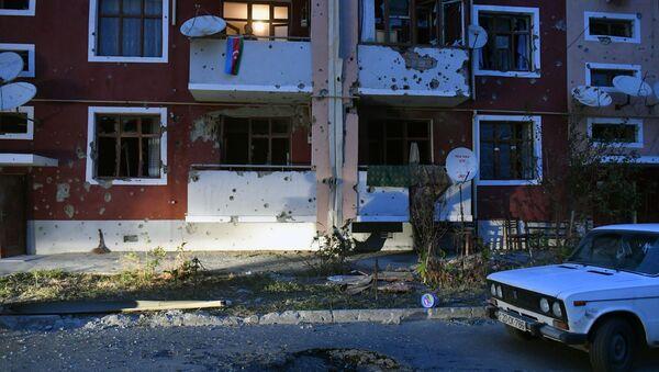 Последствия обстрелов в Тертерском районе Азербайджана - Sputnik Азербайджан