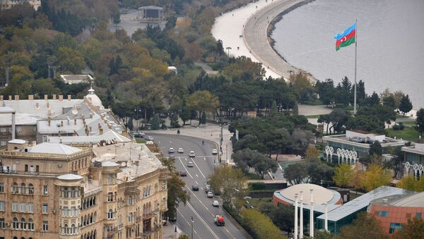 Вид на город со смотровой площадки в Баку - Sputnik Азербайджан