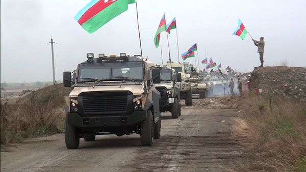 Azərbaycan ordusu Ağdamda - Sputnik Азербайджан