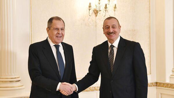 İlham Əliyev Rusiyanın xarici işlər naziri Sergey Lavrovu qəbul edib - Sputnik Азербайджан