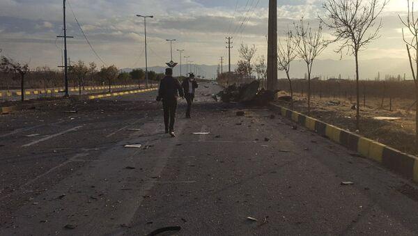 Место убийства ученого-ядерщика Мохсена Фахризаде в Иране - Sputnik Azərbaycan