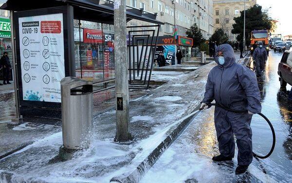 Дезинфекционные работы в Баку - Sputnik Азербайджан