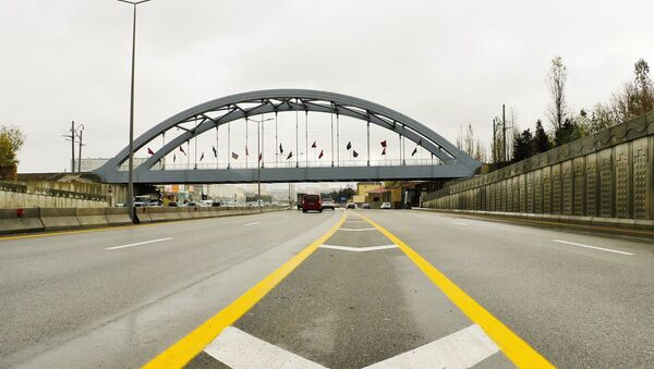 Dəmir yolu körpüsünün tikintisi yekunlaşdırılıb - Sputnik Азербайджан