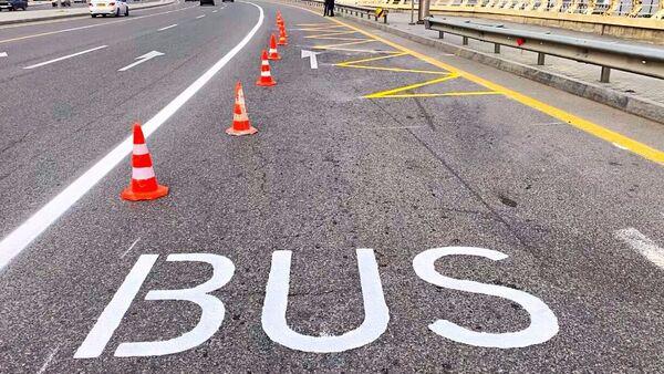 Спецполоса для автобусов в Баку - Sputnik Азербайджан
