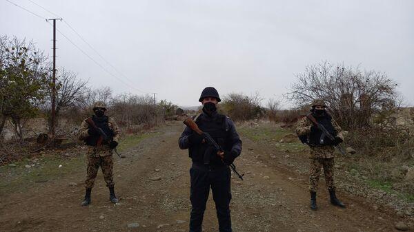 Polis əmkdaşları Ağdamda  - Sputnik Азербайджан
