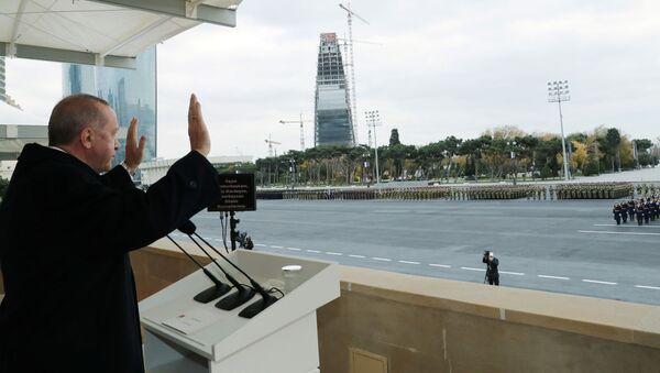Президент Турции Реджеп Тайип Эрдоган в Баку - Sputnik Азербайджан