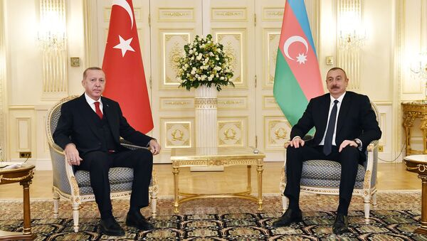 Состоялась встреча один на один Президента Азербайджанской Республики Ильхама Алиева и Президента Турецкой Республики Реджепа Тайипа Эрдогана - Sputnik Азербайджан