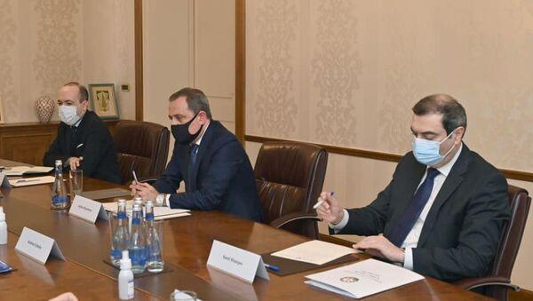 Джейхун Байрамов во время встречи с представителями МГ ОБСЕ и послом России в Азербайджане - Sputnik Азербайджан