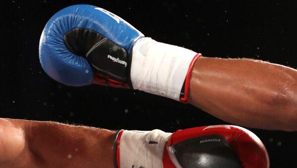 Боксеры на ринге, фото из архива - Sputnik Азербайджан