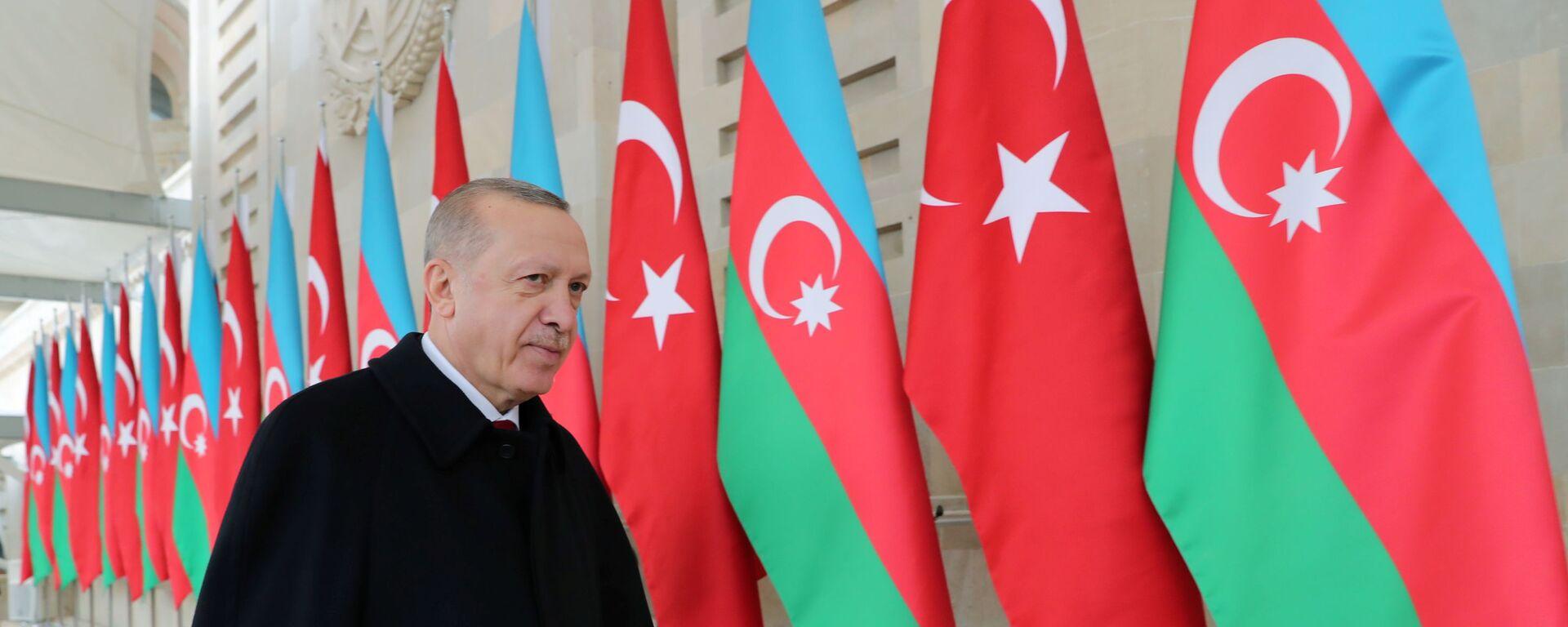 Президент Турции Реджеп Тайип Эрдоган в Баку, фото из архива - Sputnik Азербайджан, 1920, 26.02.2021