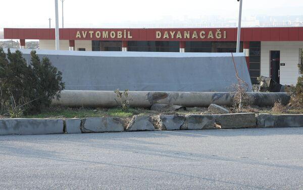 Последствия ДТП на 12,3 километре магистрального газопровода Гарадаг-Хырдалан-Дигях - Sputnik Азербайджан