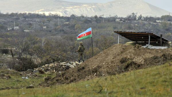 Азербайджанский военнослужащий, фото из архива - Sputnik Азербайджан