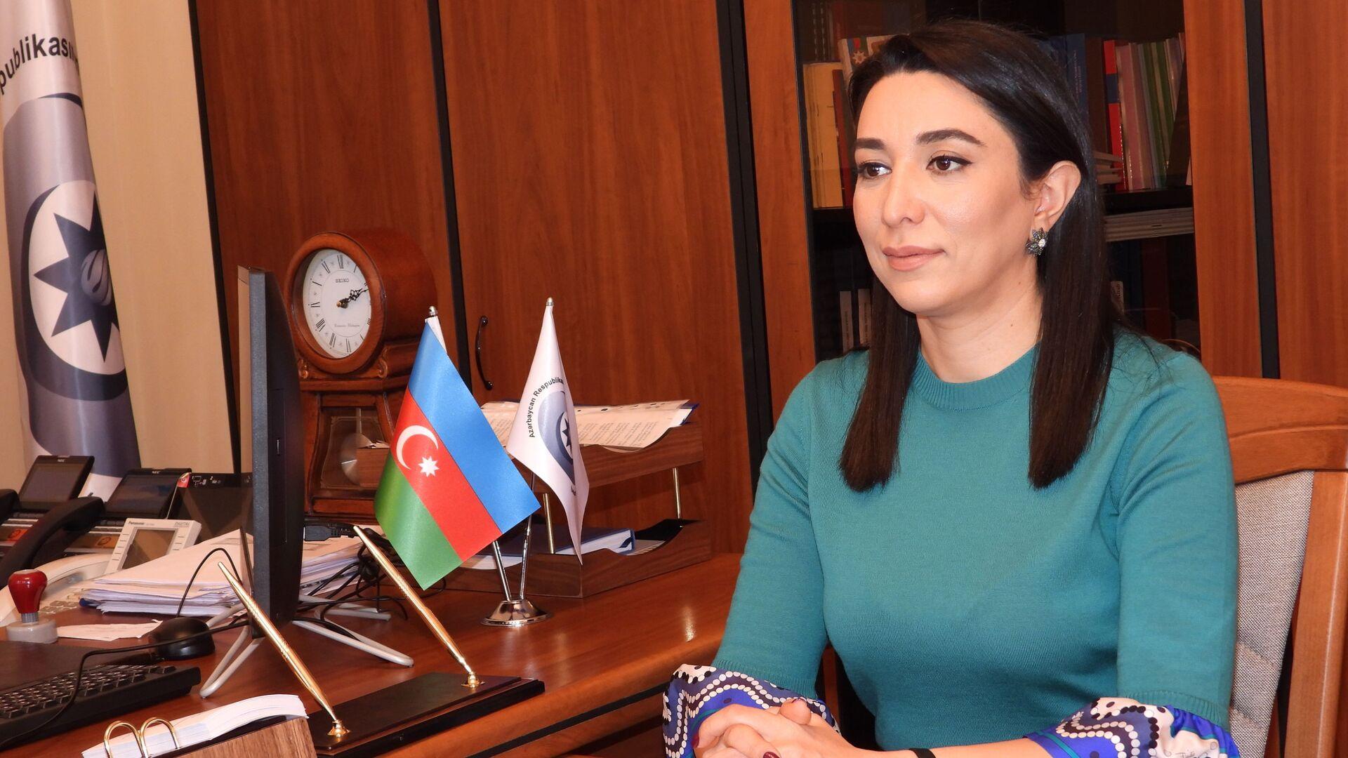 Azərbaycan Respublikasının İnsan Hüquqları üzrə Müvəkkili, Ombudsman Səbinə Əliyeva - Sputnik Azərbaycan, 1920, 06.10.2021