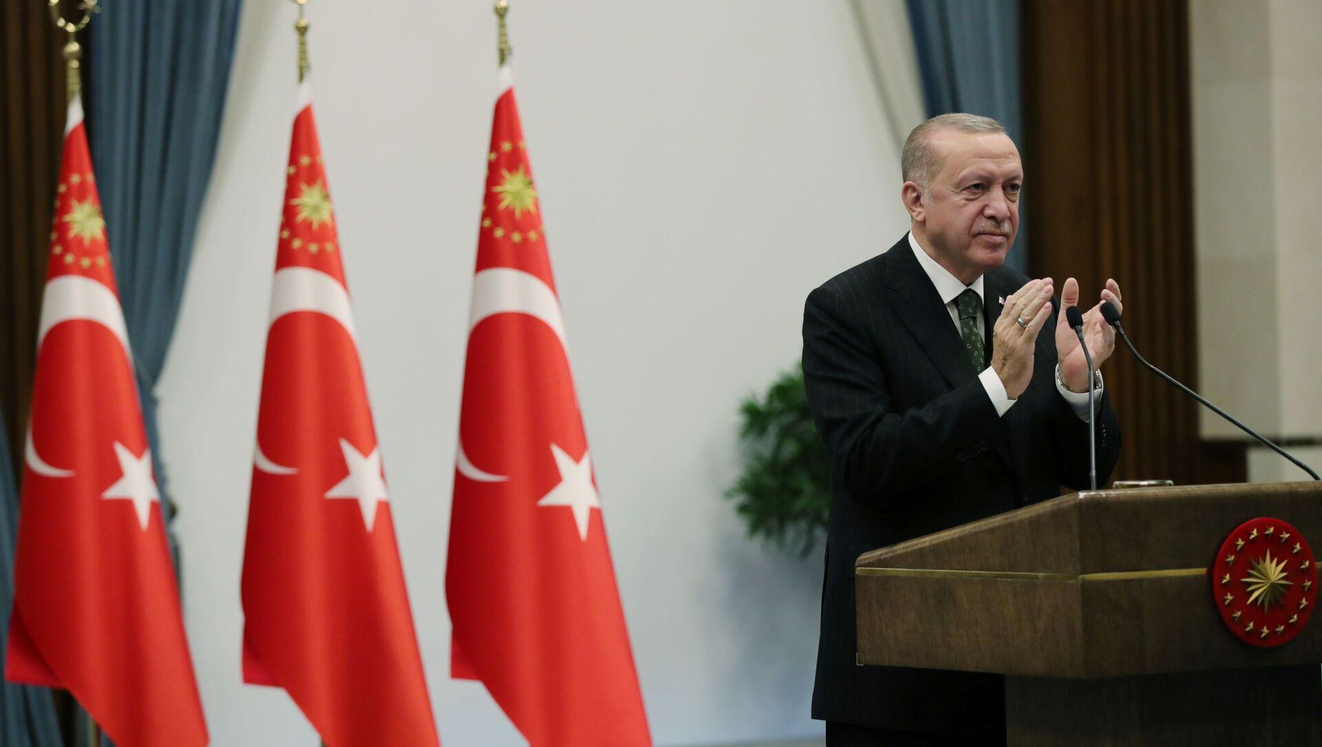 Президент Турции Реджеп Тайип Эрдоган, фото из архива  - Sputnik Азербайджан, 1920, 08.04.2021
