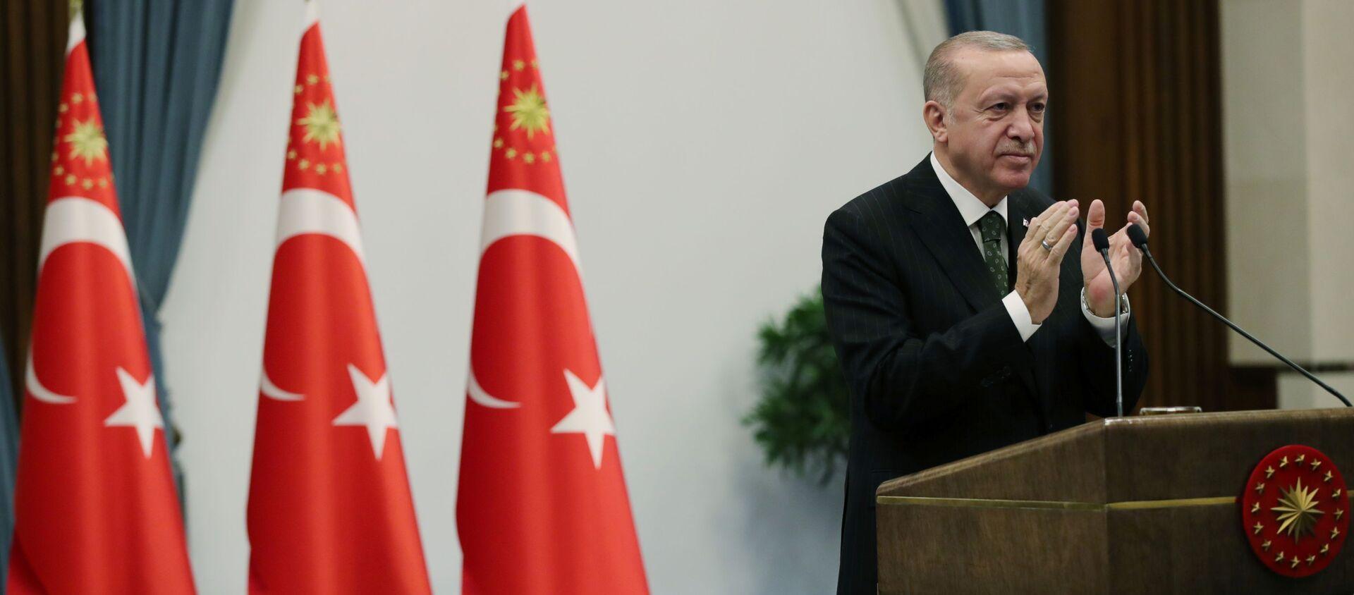 Президент Турции Реджеп Тайип Эрдоган, фото из архива  - Sputnik Азербайджан, 1920, 22.04.2021