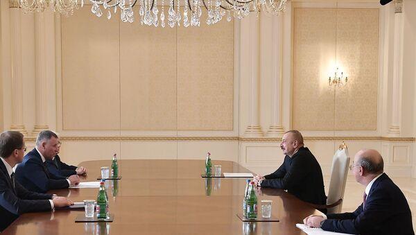 Президент Ильхам Алиев принял главу МЧС РФ Евгения Зинчева - Sputnik Азербайджан