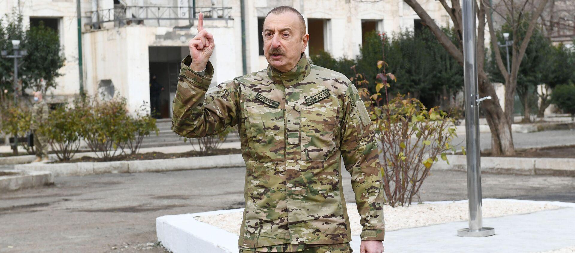 Президент Ильхам Алиев в Губадлинском и Зангиланском районах - Sputnik Азербайджан, 1920, 24.12.2020