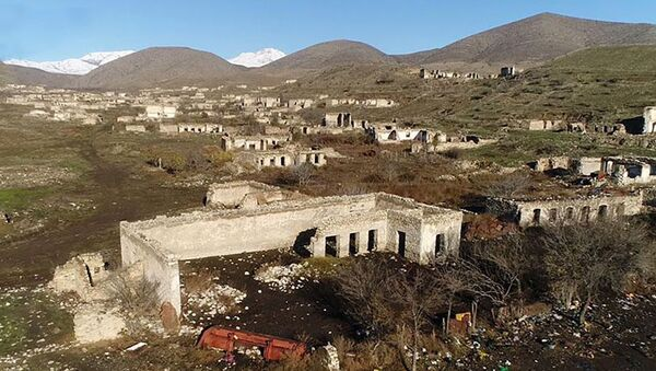 Село Ховуслу Джебраильского района - Sputnik Азербайджан