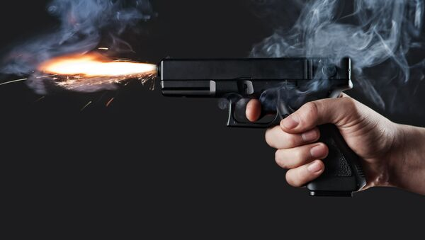 Стрельба из пистолета  - Sputnik Azərbaycan