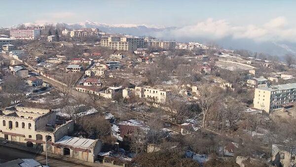 Вид на Шушу, фото из архива - Sputnik Azərbaycan